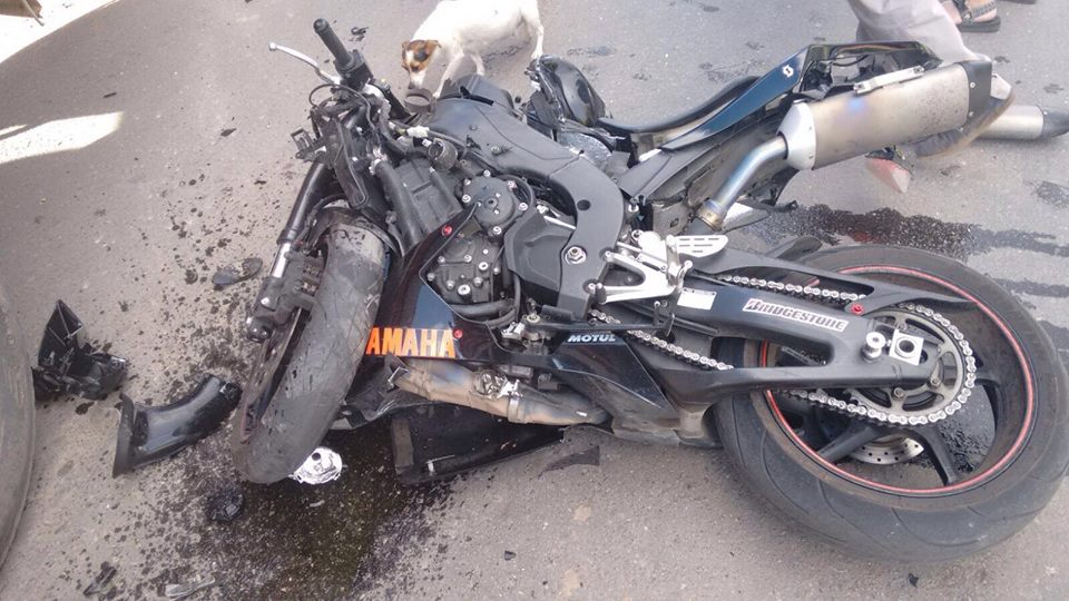 Accidente de moto Cesar Chapero
