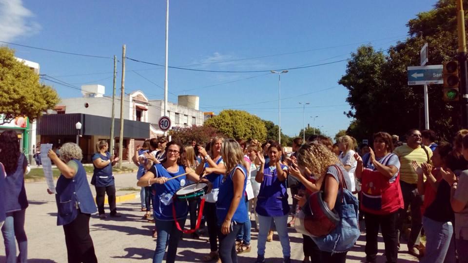 Protesta docente en Río Segundo