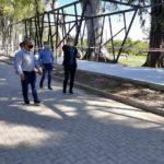 Graglia recorrió varias obras en ejecución en Villa Nueva