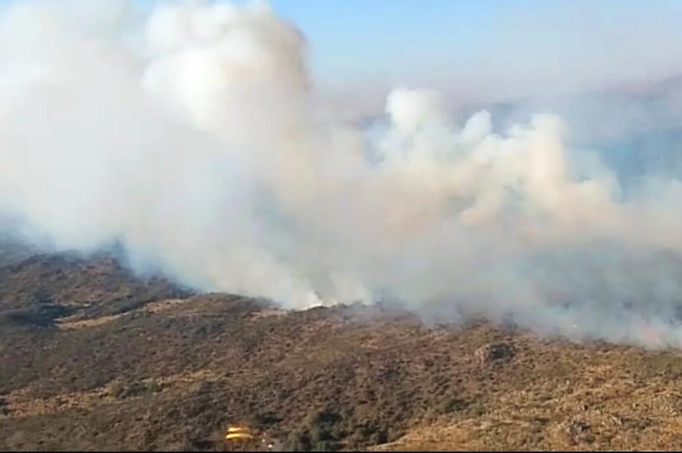Imagen de archivo. Incendio en las sierras de Córdoba