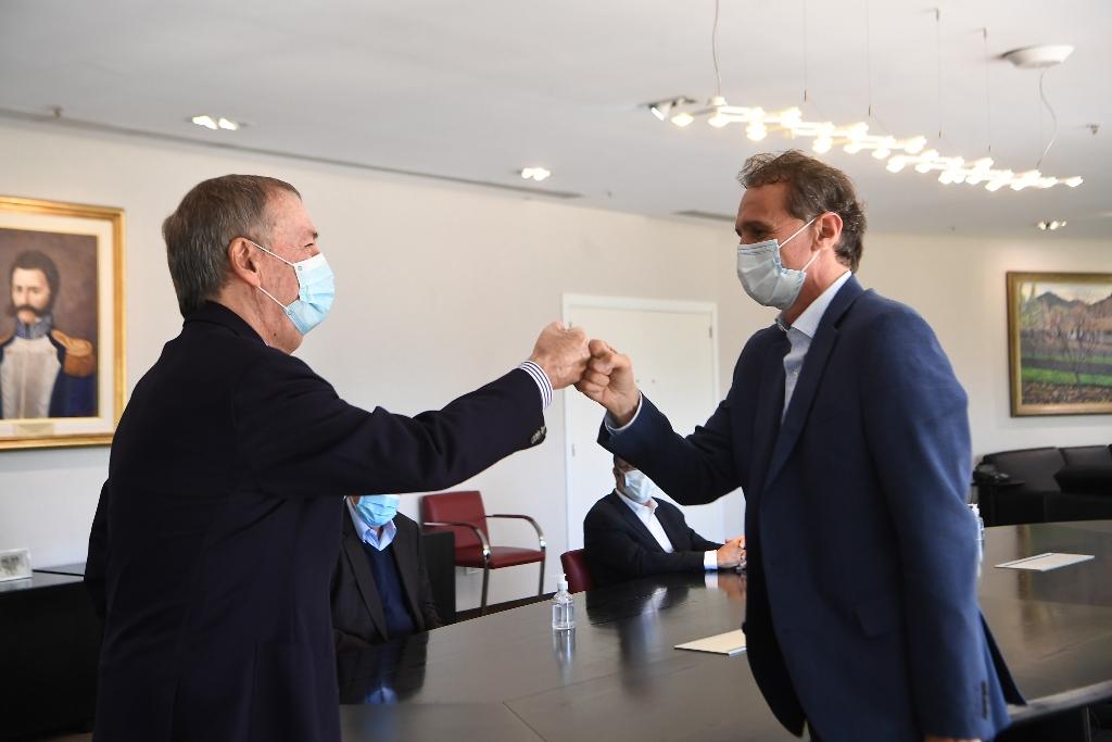Schiaretti recibe a Katopodis en el Centro Civico