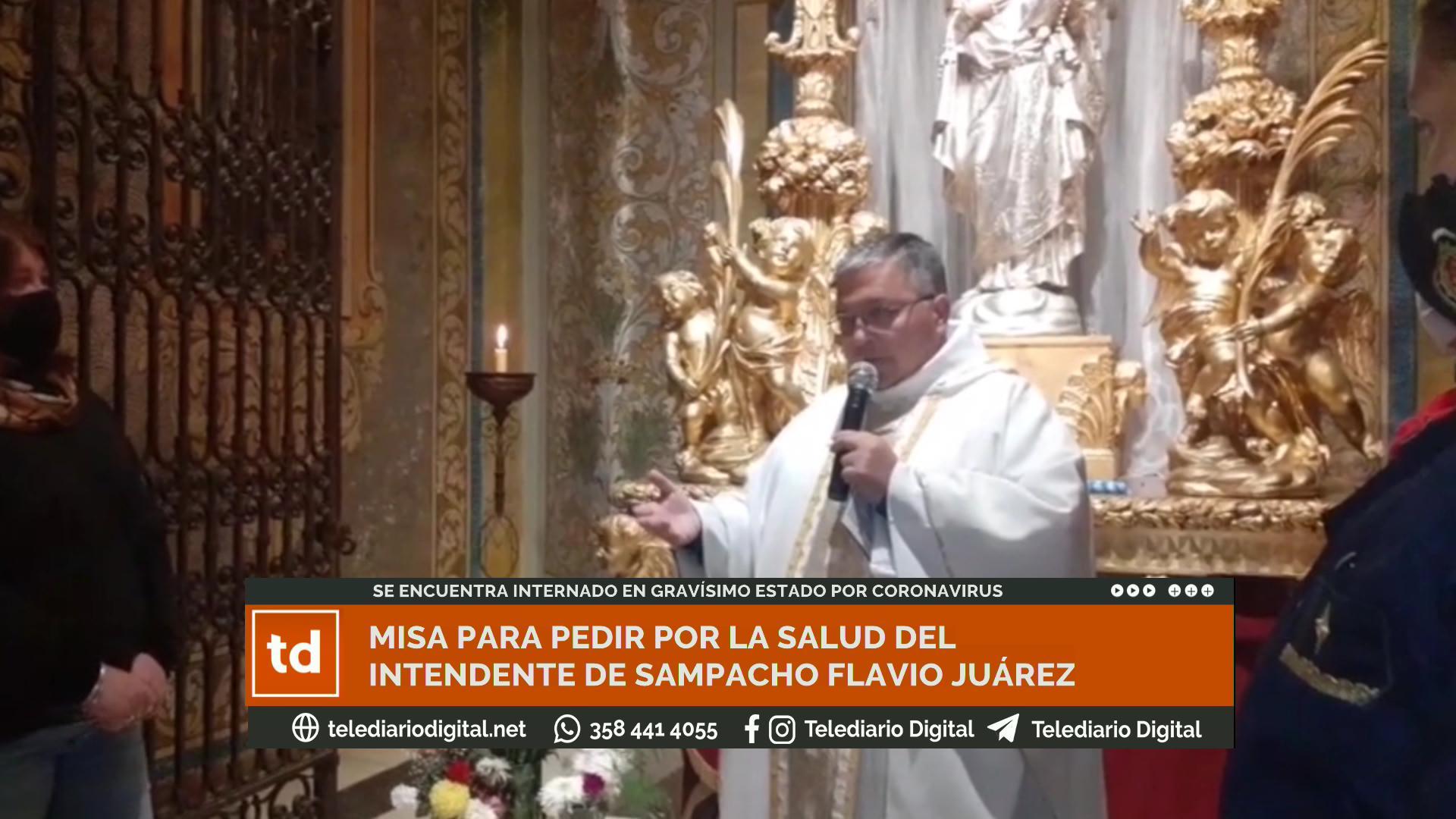 El domingo por la noche en el Santuario de la Virgen de La Consolata el pueblo se unió para pedir por la salud de su intendente