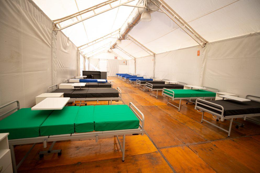En los tres municipios se replica el modelo de las carpas instaladas en el Hospital Rawson.
