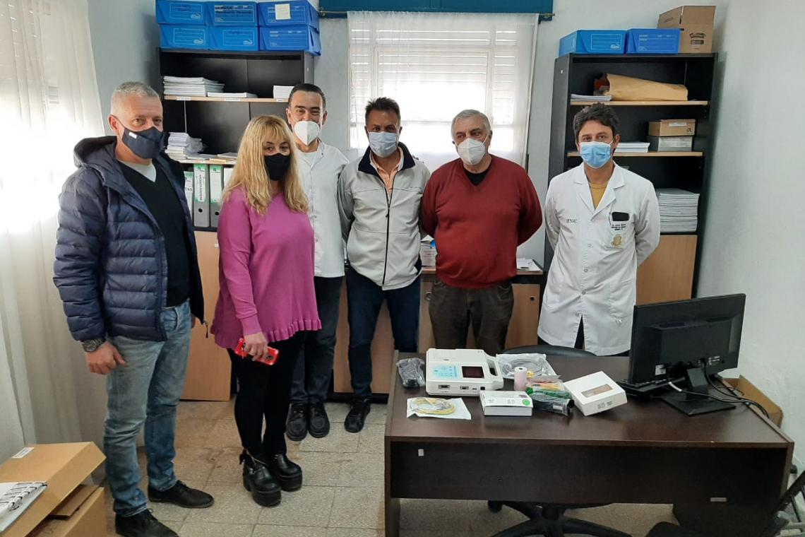 Concejales de La Falda donaron 85 mil pesos para la compra de un Electrocardiógrafo