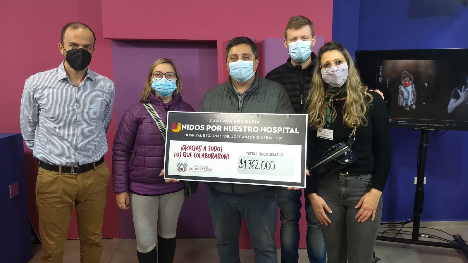 La comunidad de Bell Ville acudió masivamente en apoyo al llamado solidario para el Hospital Regional.