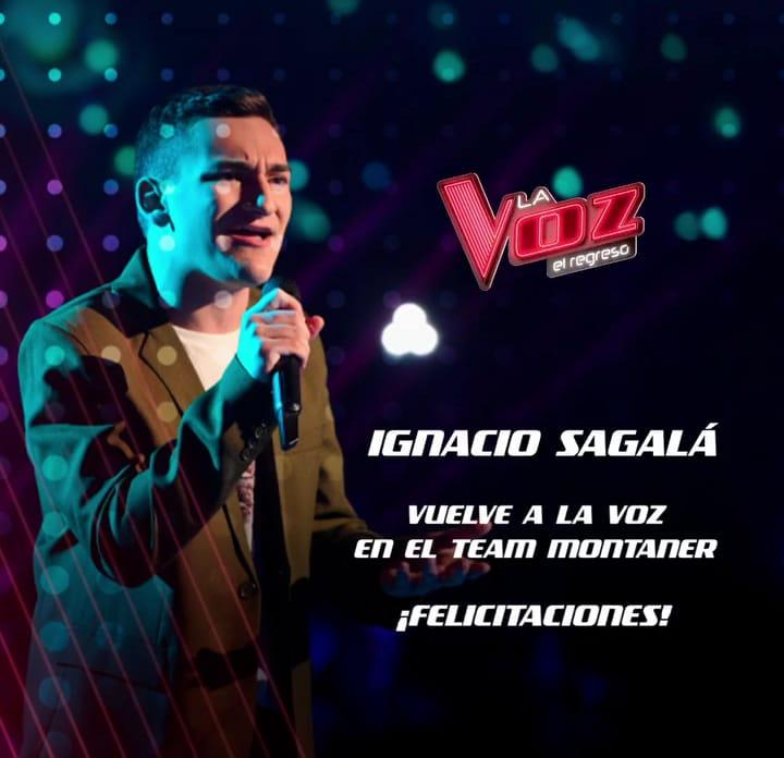 Ignacio Sagala, de cordoba, volvió al escenario principal de La Voz Argentina
